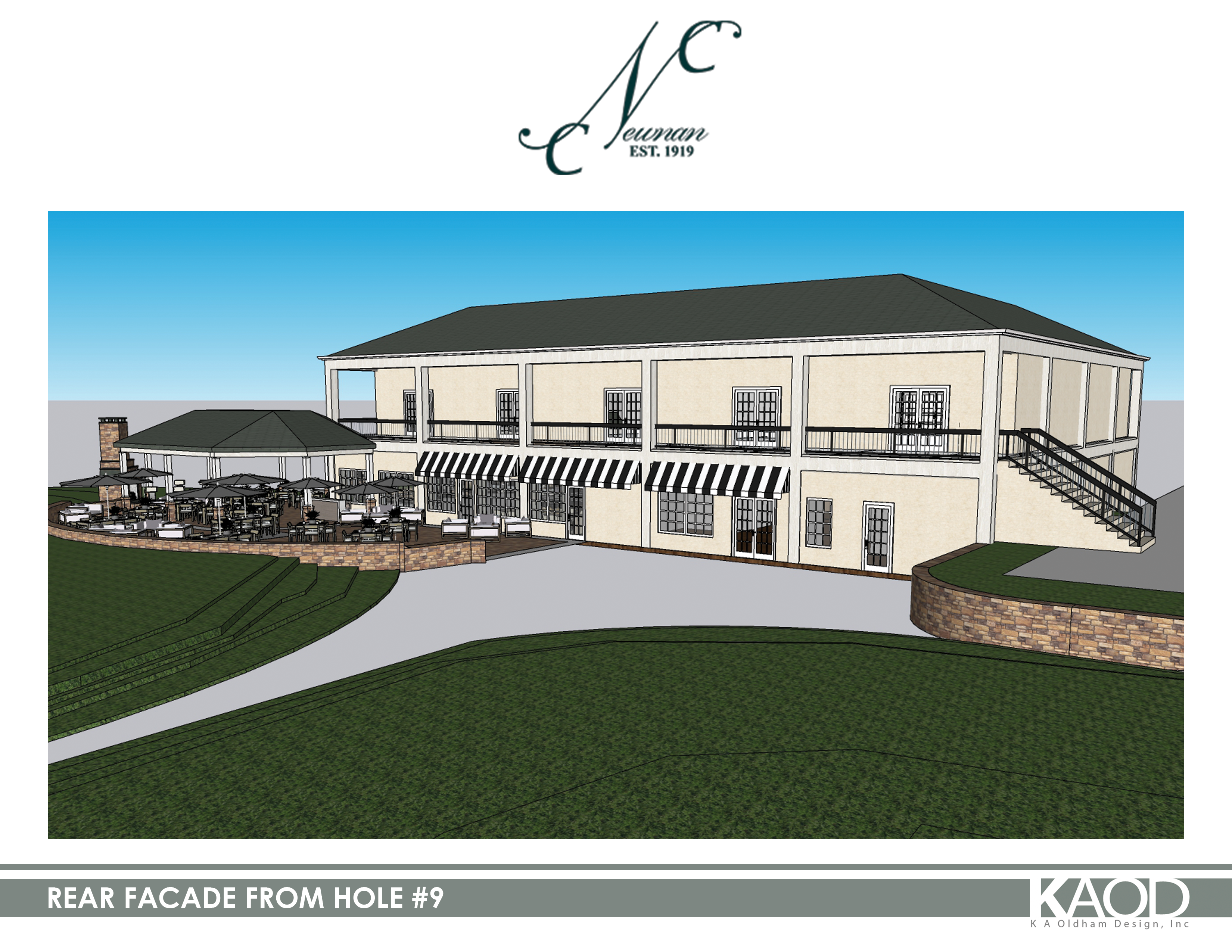 REAR FACADE FROM HOLE 9